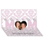 Elegant Pink MOM 3D Card - MOM 3D Greeting Card (8x4)