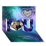 Stained glass love you 3D card - I Love You 3D Greeting Card (7x5)