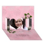I Love You 3D Card(7x5) : Flowers - I Love You 3D Greeting Card (7x5)