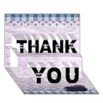 3D Lavender Rain Thank You Card 1 - THANK YOU 3D Greeting Card (7x5)