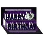 Happy 21st Birthday 3d card - Happy Birthday 3D Greeting Card (8x4)