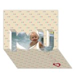 Flirty - 3d card - I Love You 3D Greeting Card (7x5)