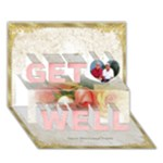 Named Get Well 3D Card - Get Well 3D Greeting Card (7x5)