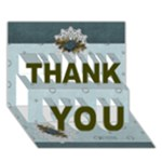 THANK YOU 3D Card (7x5) : thankful5 - THANK YOU 3D Greeting Card (7x5)