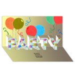 Party Invite 3D Card - PARTY 3D Greeting Card (8x4)