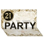 21st birthday party 3D card - PARTY 3D Greeting Card (8x4)