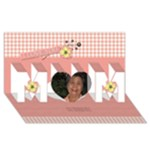 MOM 3D Card (8x4): Mom 2 - MOM 3D Greeting Card (8x4)