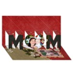 3D Mom, Red Floral Card - MOM 3D Greeting Card (8x4)