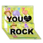 YOU ROCK 1 - You Rock 3D Greeting Card (7x5)