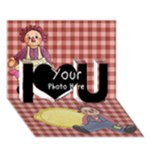 I Love You 1 - I Love You 3D Greeting Card (7x5)