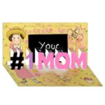 1 MOM 1 - #1 MOM 3D Greeting Cards (8x4)
