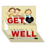 Get Well 1 - Get Well 3D Greeting Card (7x5)