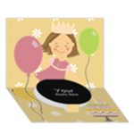 CIRCLE 1 - Circle Bottom 3D Greeting Card (7x5)