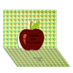 Thanks you Apple 3D Card - Apple 3D Greeting Card (7x5)