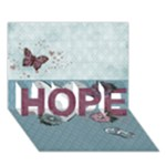 Hope 3D Card, Get Well Soon - HOPE 3D Greeting Card (7x5)