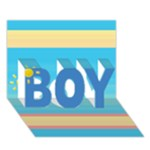 Boy 3d card - BOY 3D Greeting Card (7x5)