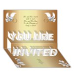 Our wedding Invitation 2 3D (7x5) - YOU ARE INVITED 3D Greeting Card (7x5)