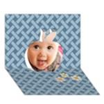 apple baby - Apple 3D Greeting Card (7x5)
