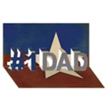 #1 DAD 3D Card (8x4), Patriotic-Red, White & Blue - #1 DAD 3D Greeting Card (8x4)