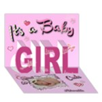 Special Delivery - It s A GIRL 3d card - GIRL 3D Greeting Card (7x5)