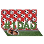 #1 DAD 3D Card (8x4) Soccer, Football - #1 DAD 3D Greeting Card (8x4)
