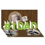 #1 DAD 3D Card (8x4) Father - #1 DAD 3D Greeting Card (8x4)