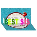 my sister - BEST SIS 3D Greeting Card (8x4)