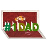 1 DAD - #1 DAD 3D Greeting Card (8x4)