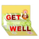 get well - Get Well 3D Greeting Card (7x5)
