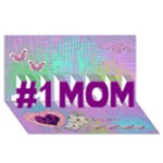Love MY #1 Mom 3d card - #1 MOM 3D Greeting Cards (8x4)