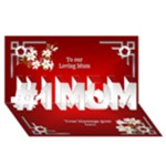 Love you Mum 3D Card - #1 MOM 3D Greeting Cards (8x4)