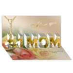 Love no1 Mom 3D Card - #1 MOM 3D Greeting Cards (8x4)