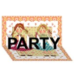 Party Card - PARTY 3D Greeting Card (8x4)