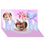 Love you Mom 3d Card - MOM 3D Greeting Card (8x4)