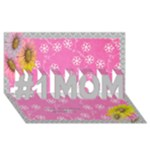 Pink and Grey 3D No 1 MUM card - #1 MOM 3D Greeting Cards (8x4)