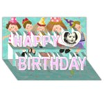 Happy Birthday Card - Happy Birthday 3D Greeting Card (8x4)