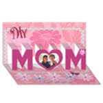 My Best Friend - My Mom flower 3d card - MOM 3D Greeting Card (8x4)
