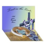 Baptism  2 3D card - Circle Bottom 3D Greeting Card (7x5)