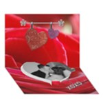 Love Story 3D Card - Heart Bottom 3D Greeting Card (7x5)