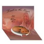 Baptism Boy 3D card - Circle Bottom 3D Greeting Card (7x5)
