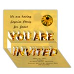 Flower Invite - YOU ARE INVITED 3D Greeting Card (7x5)