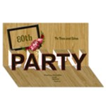 Any Age Male 3D Party card - PARTY 3D Greeting Card (8x4)