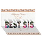 Sister - BEST SIS 3D Greeting Card (8x4)