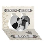 Wedding Heart 3D Card - Heart 3D Greeting Card (7x5)