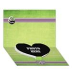 Lavender Essentials Heart Card 1 - Heart Bottom 3D Greeting Card (7x5)