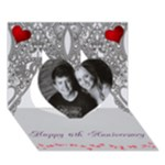 Ayden anniversary - Heart 3D Greeting Card (7x5)