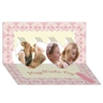 mothers day - Twin Hearts 3D Greeting Card (8x4)