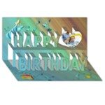 3d birthday card - Happy Birthday 3D Greeting Card (8x4)