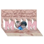 I Love You Mom, mothering sunday, mothers Day 3d card - MOM 3D Greeting Card (8x4)