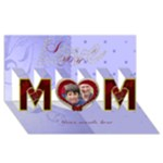 love you mom card: birthday, mothers day - MOM 3D Greeting Card (8x4)